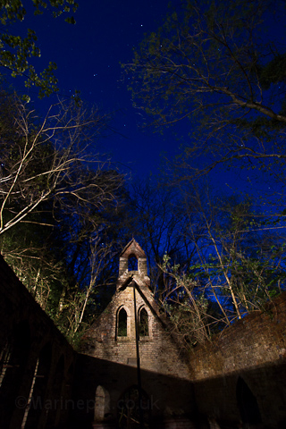 Abandoned Church at Night