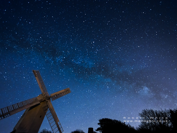 Windmill under the milkyway