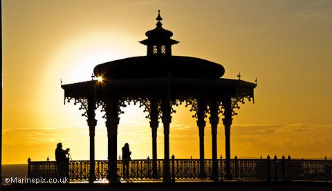 Brighton Bandstand Sunset