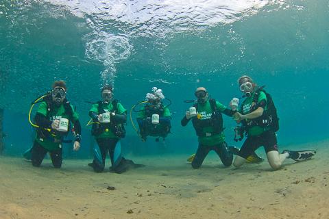macmillan under water coffee morning